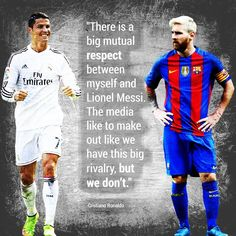 Cristiano Ronaldo's response when he was asked about what player he admires most.  #messi #ronaldo #soccer #soccerquotes #futbol   #lionelmessi #cristianoronaldo