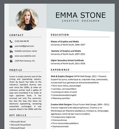 Resume Template Professional Resume Template Creative Resume Template For Word Resume Template Professional Resume Template Creative Resume Template For Word Chic Resume Resum Resume Template Professional Resume Template Creative Resume Template For Word One Page Resume Template, Cv Template, Templates Free, Acting Resume Template, Resume Design Template, Free Resume Examples, Creative Resume Templates, Resume Tips, Resume Ideas