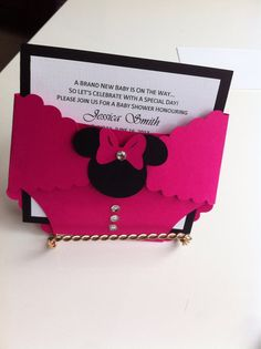 Minnie Mouse Birthday/Baby Shower Invitation on Etsy, $3.50 CAD