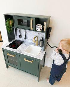 Ikea Childrens Kitchen, Ikea Kids Kitchen, Toddler Kitchen, Pretend Kitchen, Wooden Play Kitchen, Kids Room, Playroom, Decoration, Happy Sunday