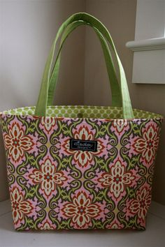Temple Garland Boxy Tote Pink by ElisaLou on Etsy, $75.00