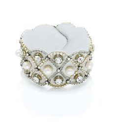 Ranjana Khan - Crystal Scalloped Bracelet  #bracelet #wedding #jewelry
