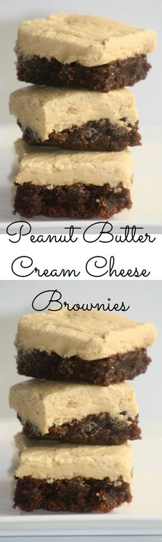 Peanut Butter Cream Cheese Brownies - These brownies are delicious and so easy to make!