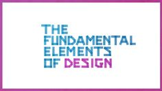 The Fundamental Elements of Design. This video starts off as 'building iconic brands', but soon it boils down to an overview of design elements that create a 'visual brand identity' as in a LOGO.