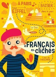 Le français en clichés ! French Language Lessons, French Language Learning, Learn A New Language, French Lessons, French Expressions, French Teaching Resources, Teaching French, How To Speak French, Learn French