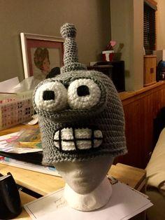 Crochet Bender hat Winter Hats, Crochet Hats, Beanie, Character, Knitting Hats, Beanies, Lettering, Beret