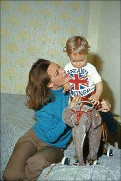 Romy Schneider met haar zoon David.