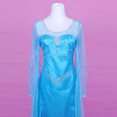 Queen Elsa Costume,Frozen Elsa Dress,Elsa Cosplay Outfit For Adult, Girls And Custom Any Size Costume Princesse Disney, Adult Princess Costume, Disney Princess Costumes, Elsa Cosplay, Disney Cosplay, Frozen Elsa Dress, Disney Frozen Elsa, Anna Frozen, Robes Disney