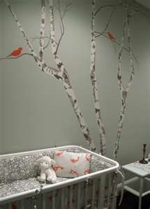 Birch with red birds?? Amazing.  WOW Could some one come paint this in my house please!