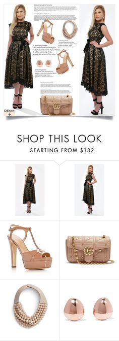 """""""Desir vale 23"""" by mell-2405 ❤ liked on Polyvore featuring Sergio Rossi, Gucci, Fairchild Baldwin and Monica Vinader"""