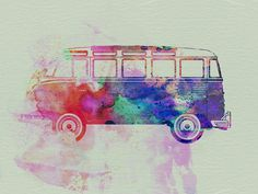 VW Bus Watercolour