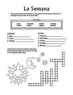 los numeros spanish numbers 1 20 crossword puzzle worksheet espa ol n meros y para empezar. Black Bedroom Furniture Sets. Home Design Ideas