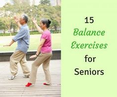 are one of the main causes of injury in the elderly. Reduce your risk with these 15 balance exercises for seniors.Falls are one of the main causes of injury in the elderly. Reduce your risk with these 15 balance exercises for seniors. Fitness Diet, Health Fitness, Health Club, Women's Health, Yoga For Seniors, Stretching Exercises For Seniors, Yoga Pilates, Balance Exercises, Chair Exercises