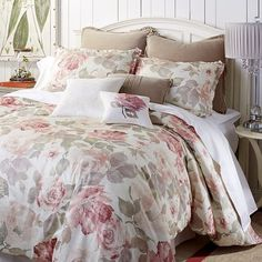 How to stay more in touch with your feminine side? A daily encounter with our Vintage Rose bedding should do it. This softly romantic, watercolor-style floral is created with a unique multiscreen process to achieve a deep textural effect on 100% cotton sateen, then given a lofty poly fill. Just accent with our curated shams and pillows, both lacy and embroidered, for a look of pure romance.