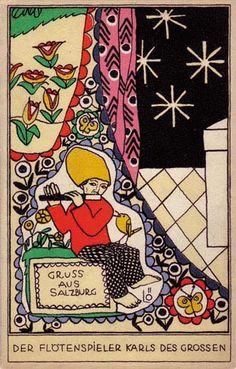 918. Bertold Löffler - Wiener Werkstatte postcard
