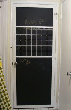 chalkboard pantry door idea