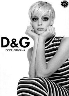 Farrah Summerford for Dolce & Gabbana, circa mid-90s.