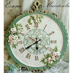 1 million+ Stunning Free Images to Use Anywhere Clock Craft, Diy Clock, Clock Painting, Sculpture Painting, Diy Embroidery Clock, Victorian Christmas Decorations, Carved Wood Wall Art, Handmade Clocks, Flower Painting Canvas