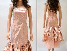 7d2915fd Metallic 80's Prom Dress by Zum Zum In Pink Size by Hookedonhoney 80s Party  Dress,