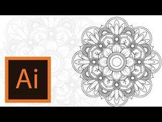 Tutorial Mandala -Illustrator //MANDALA ILLUSTRATOR #3// - YouTube
