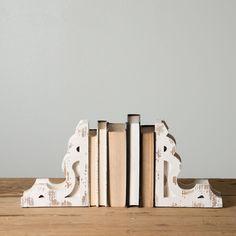 White Corbel Book Ends - Magnolia Market | Chip & Joanna Gaines