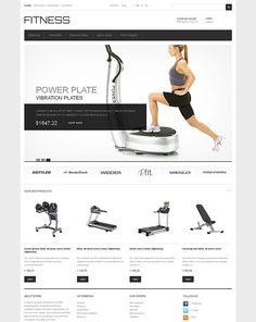Fitness Gym Equipment Prestashop Theme