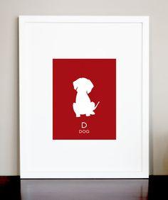 Dog Nursery Children's Wall Art Print Modern by elevenONEdesigns, $8.00