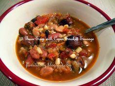 Fleur de Lolly: 15 Bean Soup with Cajun Smoked Sausage