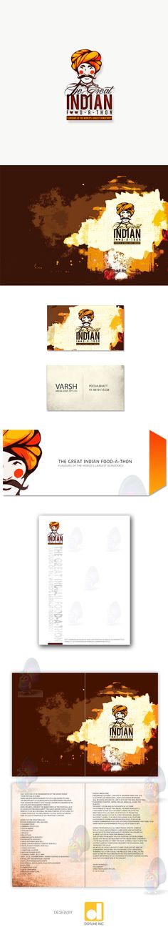 The Great Indian Foodathon - Mascot - Brochure - Collaterals