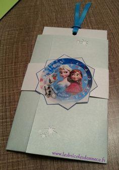 carte anniversaire La Reine des Neiges - Les Bricoles d'Anne-Cé