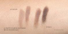 New La Palette Sourcils de Chanel Brow Powder Duos: 40 Naturel & 50 Brun Swatches