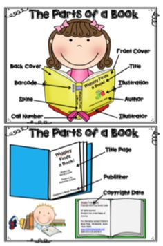 Great activity from The Book Fairy-Goddess: Labeling the Parts of a Book