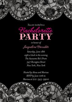 Bachelorette party invites.... Love these!!!