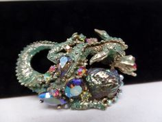 "Very Rare Vintage HAR Signed Dragon Brooch in Wonderful Condition! Circa 1950's. 3"" Long. Ships Gift Boxed! Follow Us On Twitter@Vintage911 and Facebook(Vintage Addiction Jewelry) For Coupons & Announcements!"