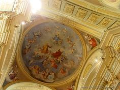 Cilavegna (Pavia, Italy) - Frescos on the ceiling of the Church of the Saints Peter and Paul