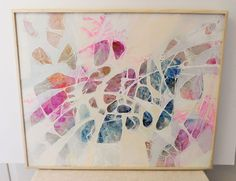 Ice Formations by Listed Artist Edward Goldman (1924 - 2012) Acrylic & from theglossedandfound on Ruby Lane