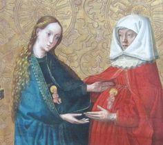 Konrad Witz, Visitation, vers 1444, bois peinte, Berlin, Gemäldegalerie