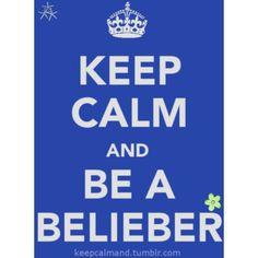 Keep Calm and be a Belieber. #justin_bieber #keep_calm