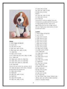Crochet Bunny Pattern, Crochet Teddy, Diy Crochet, Crochet Dolls, Crochet Baby, Crochet Dog Patterns, Amigurumi Patterns, Amigurumi Doll, Amigurumi Tutorial