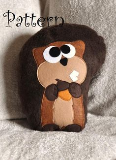Scurry the Squirrel Plush Pillow PDF Tutorial and Printable Pattern How To. $6.99, via Etsy.*