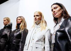 Karolina Kurkova, Gisele Bundchen, Carmen Kass, Shalom Harlow. Alexander Wang F/W 2012