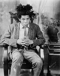 Photo of Neo-Expressionist painter, Jean-Michel Basquiat taken by the late, famous photographer, James Van Der Zee.