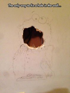 How To Fix a Hole in the Wall Like a Boss... LMAO!!!