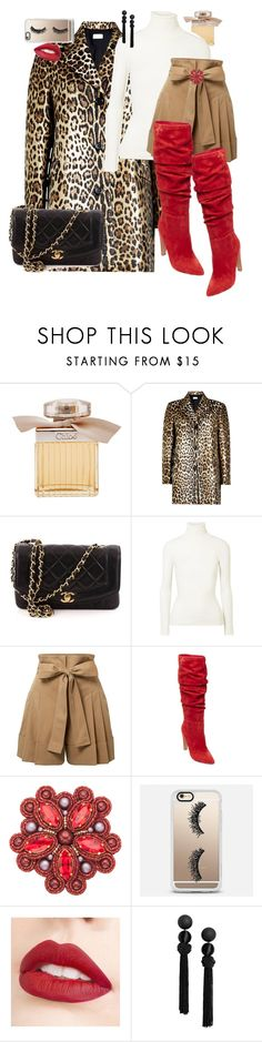 """""""PREDATORESS💋"""" by ladyelen ❤ liked on Polyvore featuring Chloé, RED Valentino, Chanel, JoosTricot, Alexander McQueen, Steve Madden, Casetify and Jouer"""