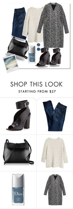 """Untitled #280"" by fallinginlovewithlove on Polyvore featuring Laurence Dacade, 7 For All Mankind, Kara, MANGO, Christian Dior, Balenciaga and Tacori"
