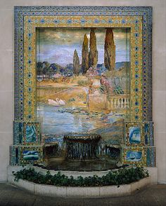 Garden Landscape                                             Designed by Louis Comfort Tiffany
