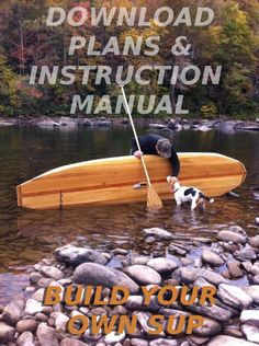 Build Your Own Hollow Wood Stand Up Paddleboard 11' Sup Surfboard Plans   eBay