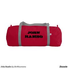 Your Custom Duffle Gym Bag, Red with Silver straps