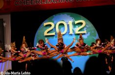 Perfect jumps.. except the one chick in the back. bahaha