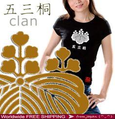 GOSAN NO KIRI 五三桐 Toyotomi  Women's Tee Shirt  Gift woman shirt